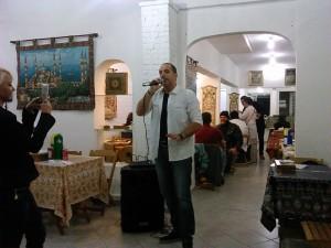 musica ao vivo_talal siria inauguracao